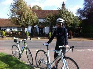 Cycling Breakfast at the Boot