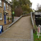 Batchworth Lock & canal Center. Not far from the place where the canal crosses the River Colne.