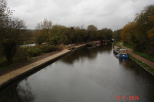 View looking west from Croxley Lock. Can you see the re-surfaced paths.