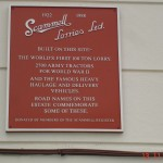 Have you seen this plaque near the old Scammell Site